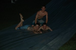 Shenanigans on the Waterslide at Choir Camp