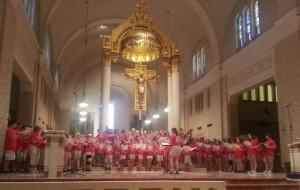 Church singing Saturday Morning at Choir Camp