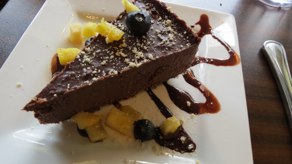 Raw Food Cashew Chocolate Cheesecake