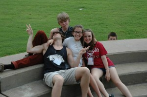 Sean Goofing around with Friends at Choir Camp