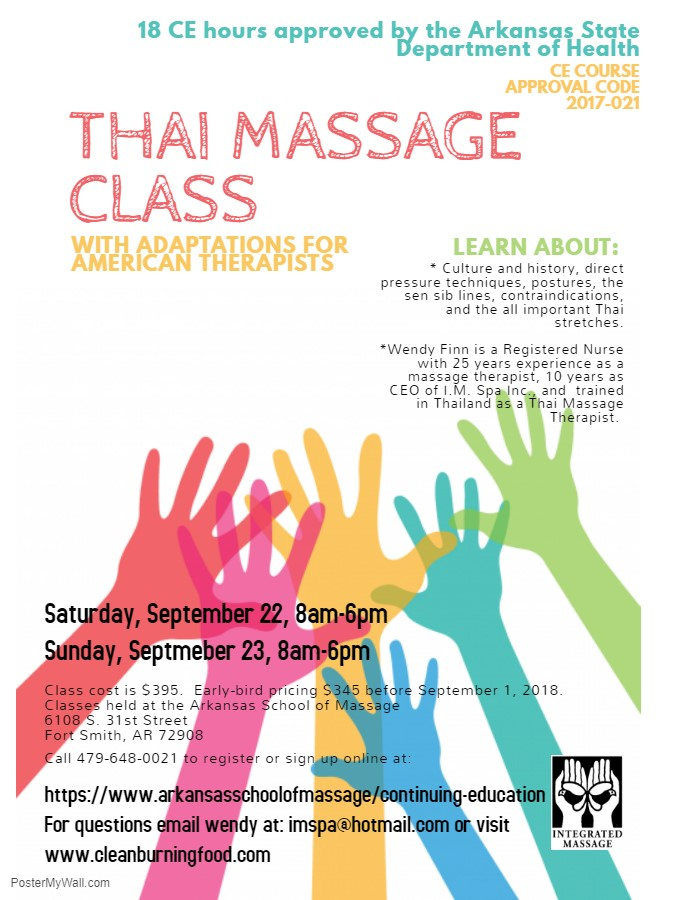 Thai, Massage, Continuing Education